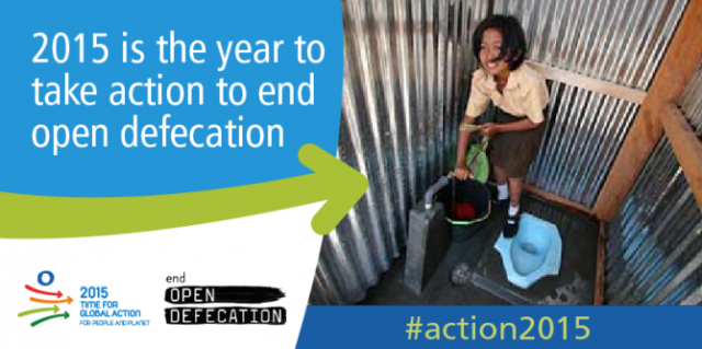 2015 is the year to take action to end open defecation