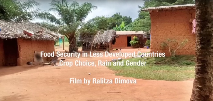 Food Security in Less Developed Countries Crop Choice, Rain and Gender