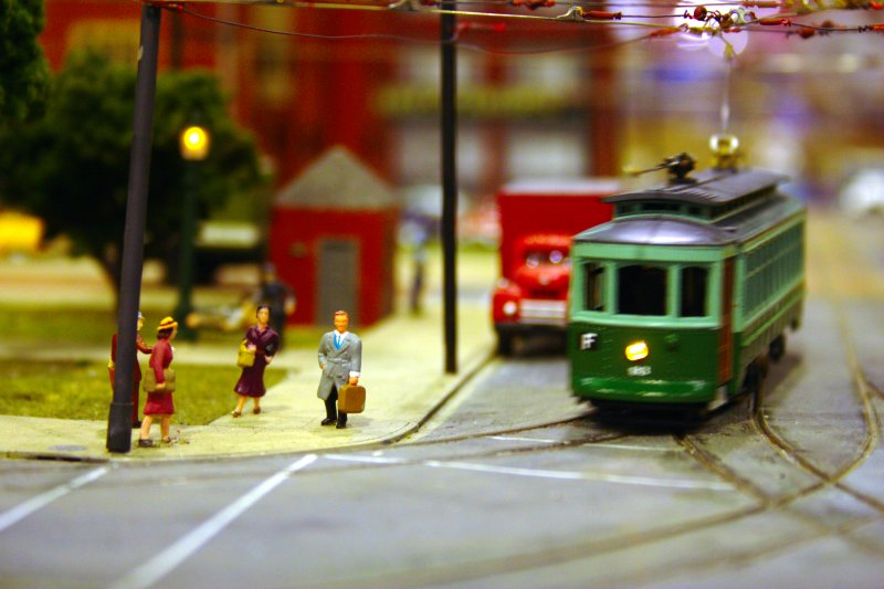 Photograph: Streetcar crossing