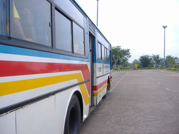To the border by bus