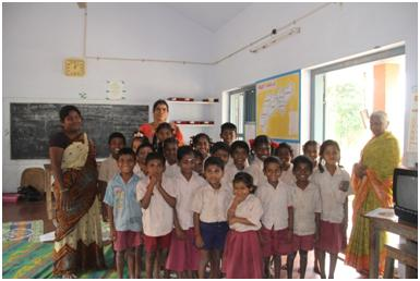 The students that benefitted from Gayathri's efforts