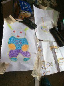 子供たちが描いた絵
